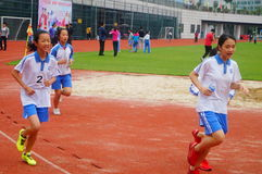 Shenzhen, China: a selection of elite track and field athletes in primary and secondary schools Stock Photo