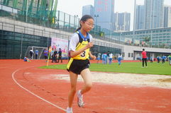 Shenzhen, China: a selection of elite track and field athletes in primary and secondary schools Stock Photography