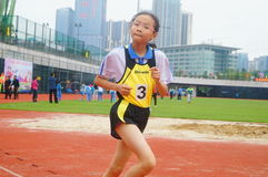 Shenzhen, China: a selection of elite track and field athletes in primary and secondary schools Stock Image