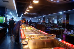 Shenzhen, china: self-help hot pot restaurant Royalty Free Stock Photos