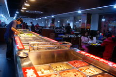 Shenzhen, china: self-help hot pot restaurant Royalty Free Stock Photo