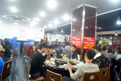 Shenzhen, china: self-help hot pot restaurant Royalty Free Stock Photography