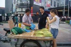 Shenzhen, China: sell corn Stock Photography