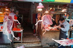 Shenzhen, China: sell mutton Royalty Free Stock Images