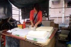 Shenzhen, China: sell tofu Royalty Free Stock Photo