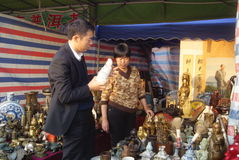Shenzhen, china: selling antiques and porcelain Royalty Free Stock Image