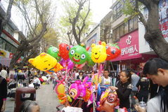 Shenzhen, China: selling balloons toy Stock Images