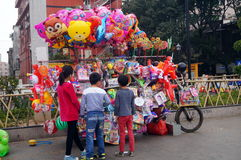Shenzhen, China: selling balloons toy Royalty Free Stock Images