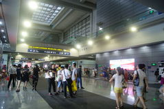 Shenzhen, China: Service Hall of Shenzhen Exhibition Center. Shenzhen Convention and Exhibition Center service hall to provide services for the people Royalty Free Stock Photos
