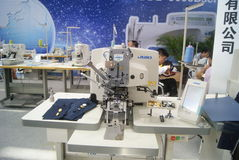 Shenzhen, China: sewing machine and weaving machine Stock Photo