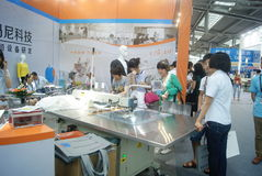Shenzhen, China: sewing machine and weaving machine Stock Images