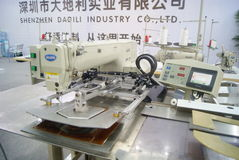 Shenzhen, China: sewing machine and weaving machine Royalty Free Stock Photography
