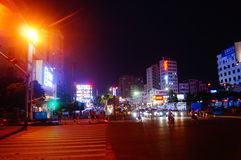Shenzhen, China: Shajing street night landscape Stock Photo
