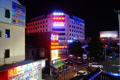 Shenzhen, China: Shajing street night landscape Stock Images