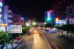 Shenzhen, China: Shajing street night landscape Royalty Free Stock Photos
