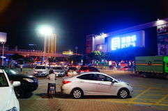 Shenzhen, China: Shajing street night landscape Stock Image