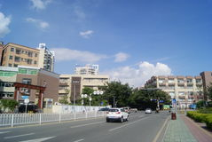 Shenzhen, China: Shekou scenic road traffic Stock Photo
