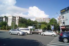 Shenzhen, China: Shekou scenic road traffic Royalty Free Stock Images