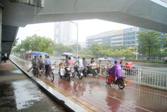 Shenzhen, China: shelter from the rain Royalty Free Stock Photos