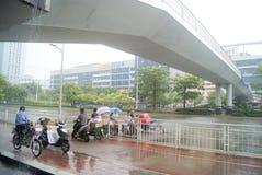 Shenzhen, China: shelter from the rain Royalty Free Stock Image