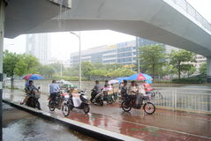 Shenzhen, China: shelter from the rain Stock Images