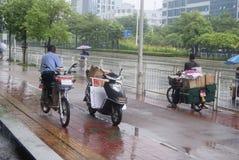Shenzhen, China: shelter from the rain Stock Image