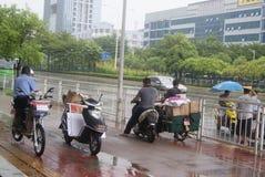 Shenzhen, China: shelter from the rain Stock Photos