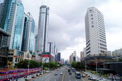 Shenzhen china: shen nan road and buildings Stock Image