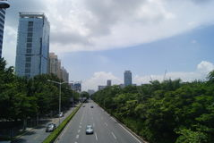 Shenzhen, China: Shennan Avenue Royalty Free Stock Image