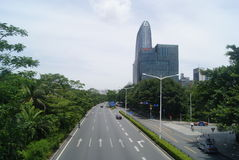 Shenzhen, China: Shennan Avenue Royalty Free Stock Photos