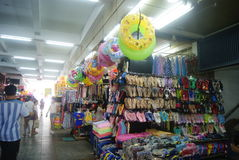 Shenzhen, China: shoes and clothes wholesale market Stock Images