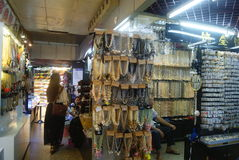 Shenzhen, China: shoes and clothes wholesale market Stock Image