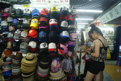 Shenzhen, China: shoes and clothes wholesale market Stock Photography