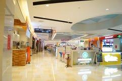Shenzhen, China: shopping mall interior landscape Stock Photo
