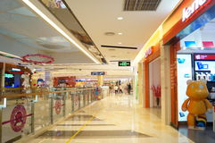Shenzhen, China: shopping mall interior landscape Stock Images
