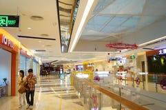 Shenzhen, China: shopping mall interior landscape Royalty Free Stock Images