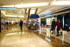Shenzhen, China: shopping mall interior landscape Royalty Free Stock Photo