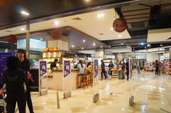 Shenzhen, China: shopping mall interior landscape Stock Images