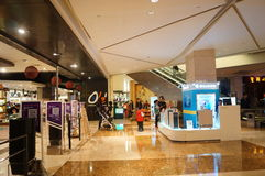 Shenzhen, China: shopping mall interior landscape Royalty Free Stock Photography