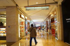 Shenzhen, China: shopping mall interior landscape Royalty Free Stock Photos