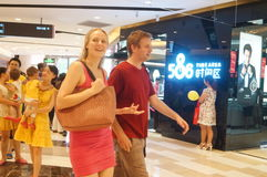 Shenzhen, China: shopping malls interior landscape Stock Photo