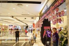 Shenzhen, China: Shopping Plaza Royalty Free Stock Photo