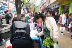 Shenzhen, China: shopping satisfaction survey Stock Photo