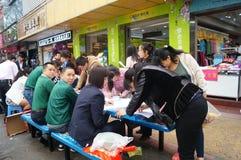 Shenzhen, China: shopping satisfaction survey Stock Image