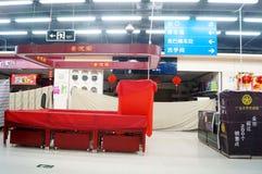 Shenzhen, China: Silvesterabend, Shops früh geschlossen Lizenzfreie Stockfotos