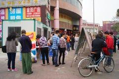 Shenzhen, China: on-site staff recruitment Royalty Free Stock Image