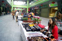 Shenzhen, china: small commodity market Stock Photography