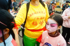 Shenzhen, China: small performers, after the show in the rest or remover Stock Photography