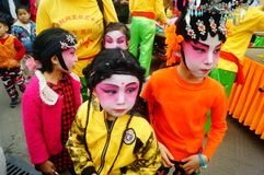 Shenzhen, China: small performers, after the show in the rest or remover Royalty Free Stock Image