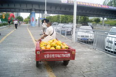 Shenzhen, China: small roadside vendors Stock Photos